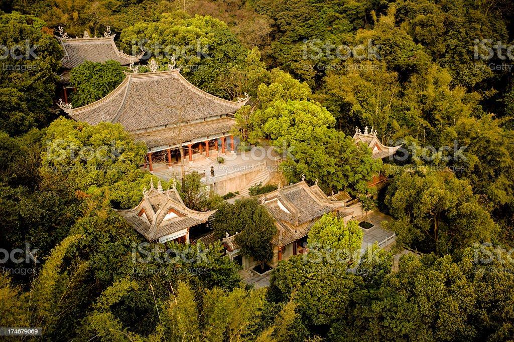 Baiyun Mountain Temple in Guangzhou China stock photo