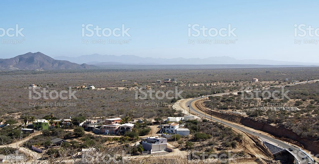 Baja California Highway stock photo