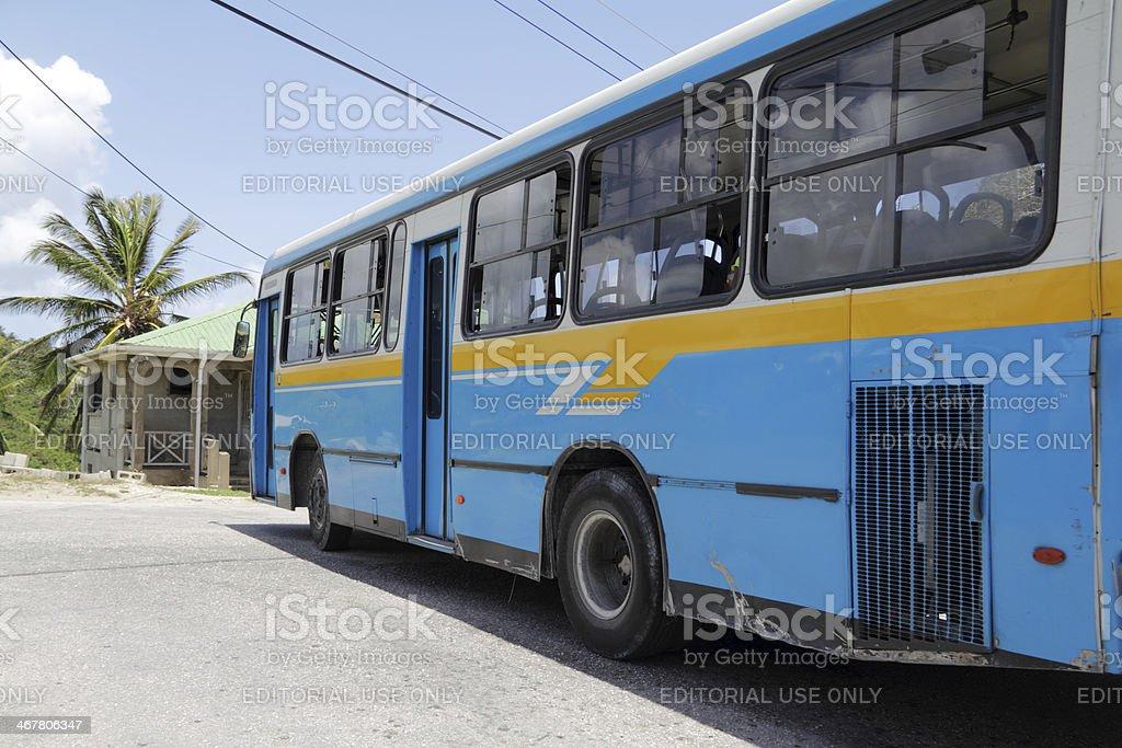 bajan bus stock photo
