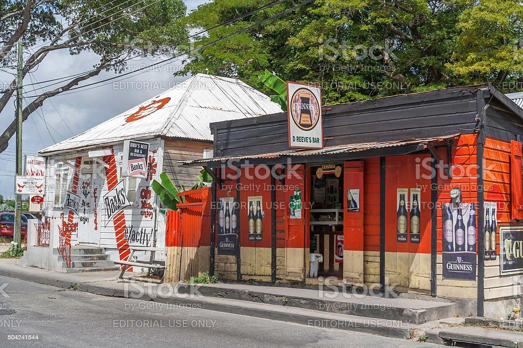 Bajan Pubs stock photo