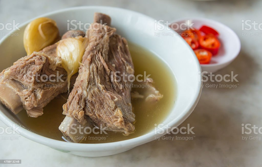 Bak Kut Teh in the white bowl stock photo