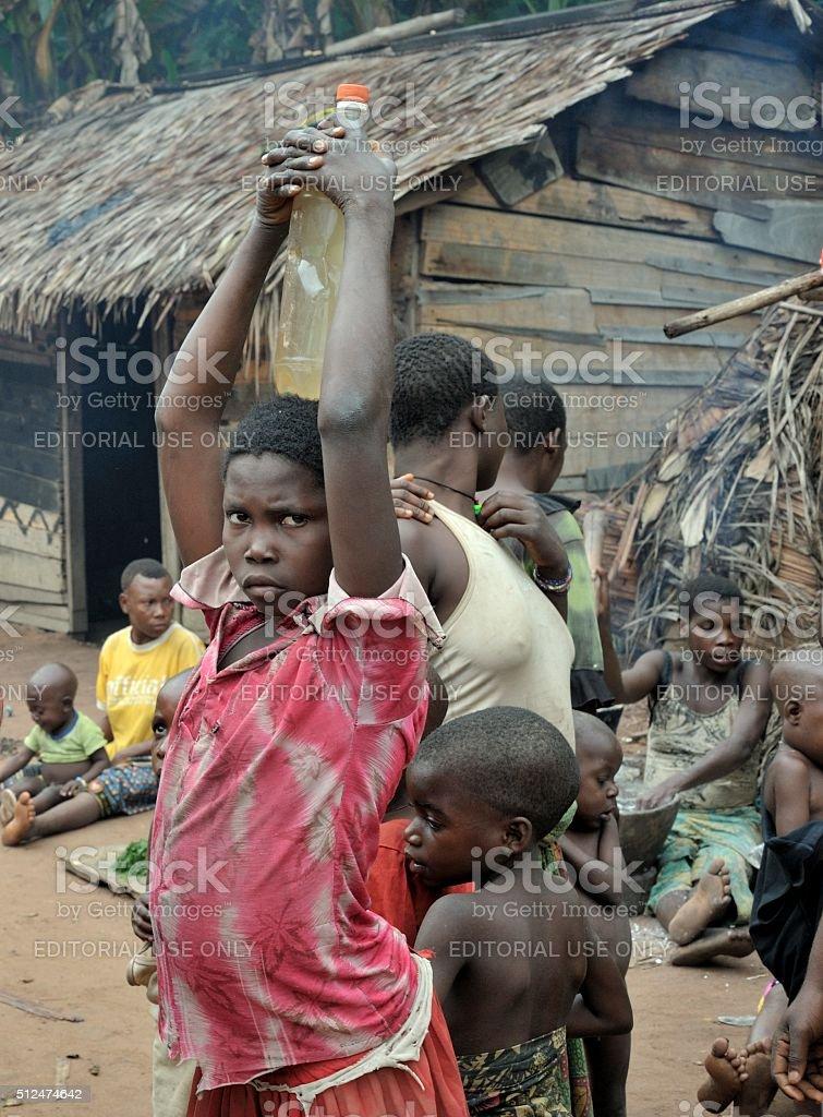 Baka pygmies. stock photo