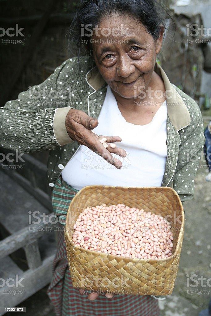 Bake peanuts royalty-free stock photo