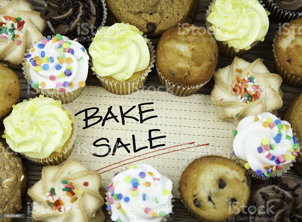 Bake Sale Cookies and Cakes stock photo