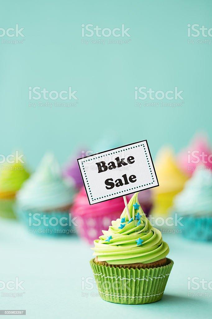 Bake sale cupcake stock photo