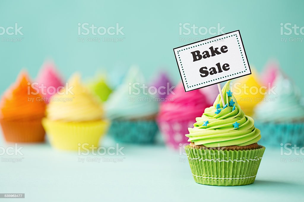 Bake sale cupcake stock photo