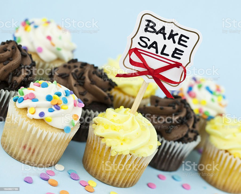 Bake Sale Cupcakes royalty-free stock photo