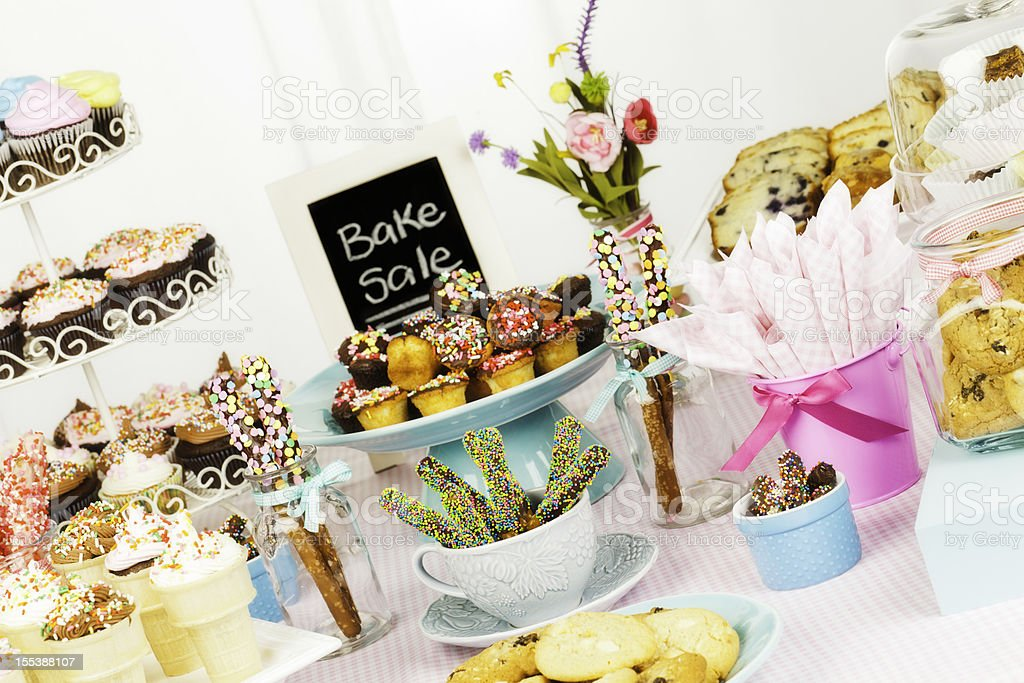 Bake Sale Fundraiser stock photo