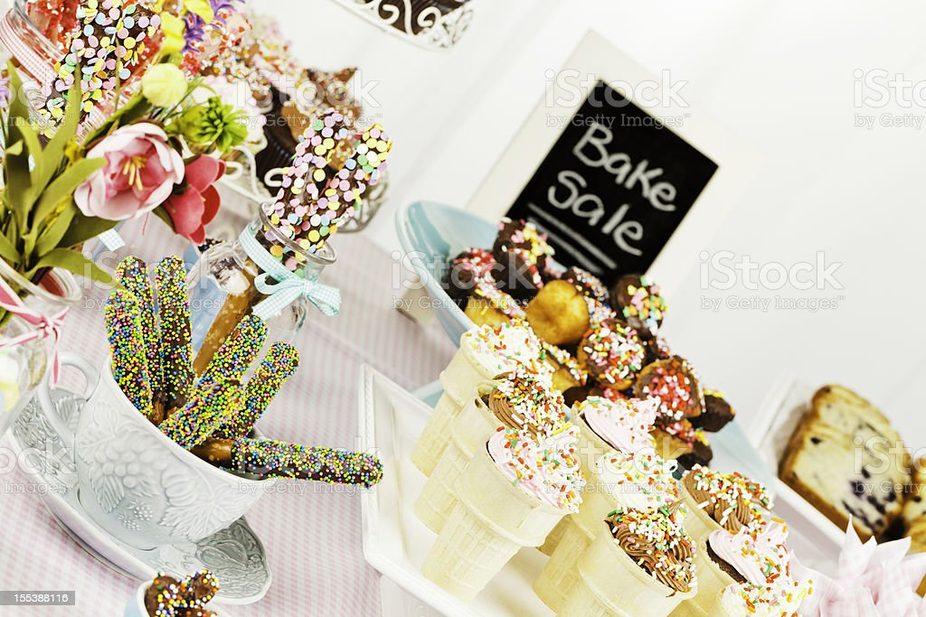 Bake Sale Fundraiser royalty-free stock photo