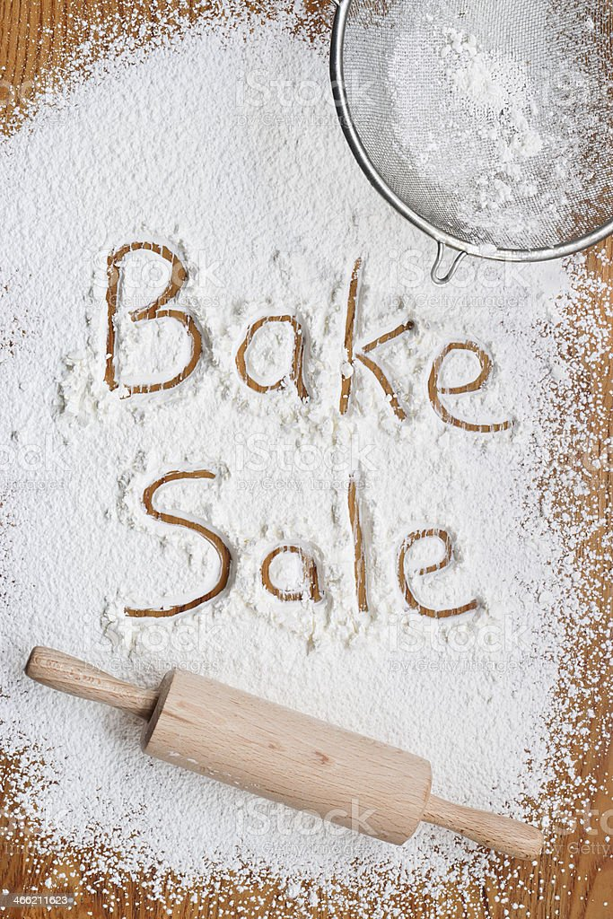 Bake Sale Poster stock photo
