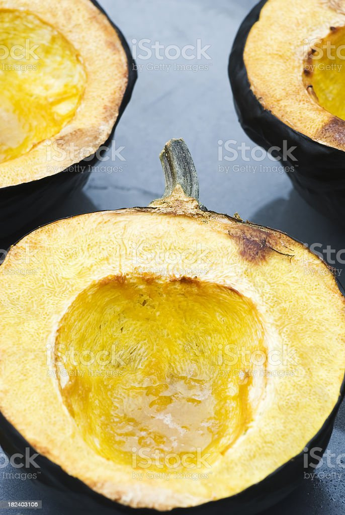 Baked Acorn (Winter) squash royalty-free stock photo