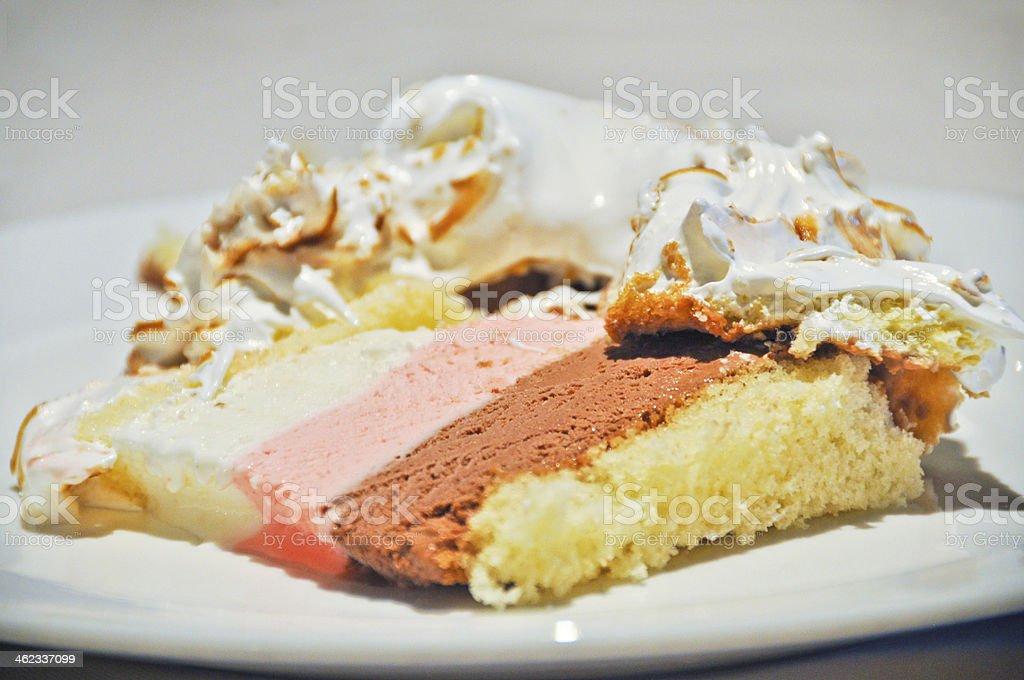 Baked Alaska Cake royalty-free stock photo