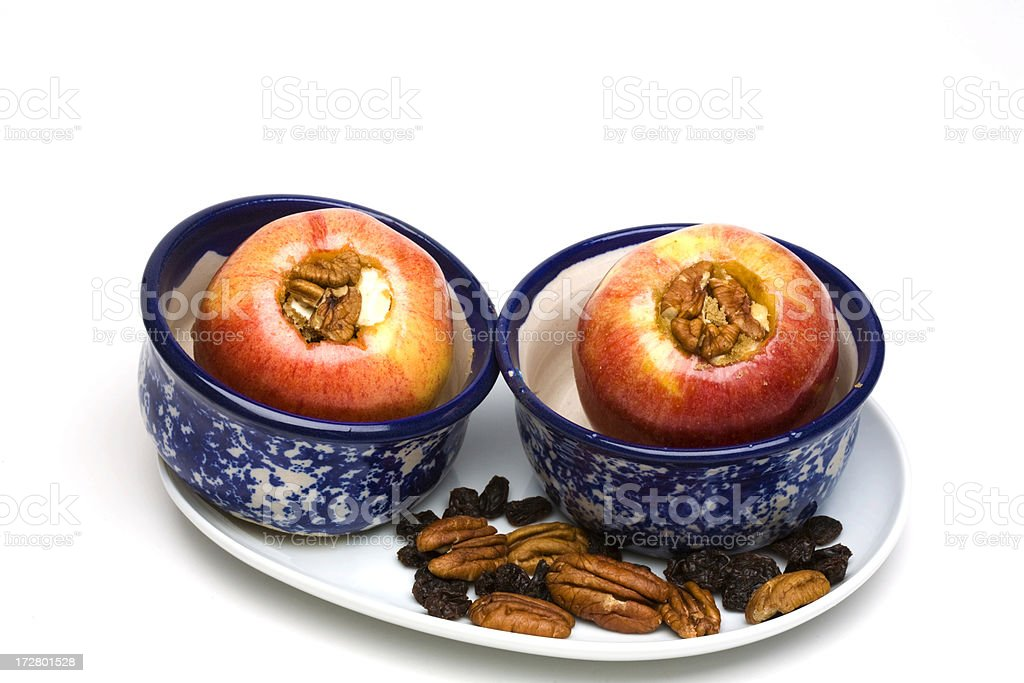 Baked Apples stock photo