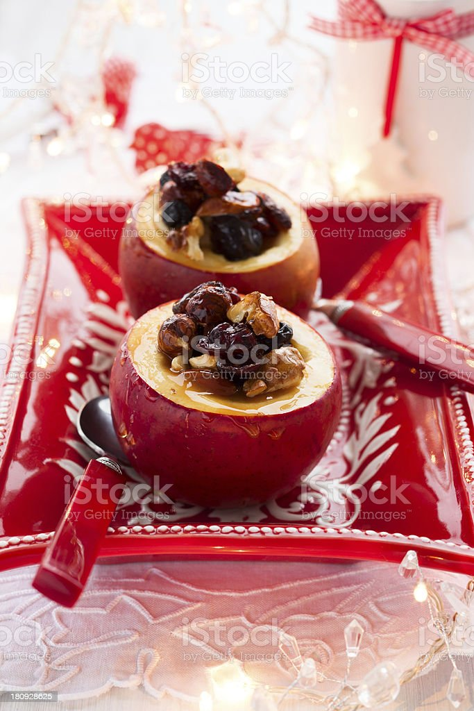 baked apples royalty-free stock photo