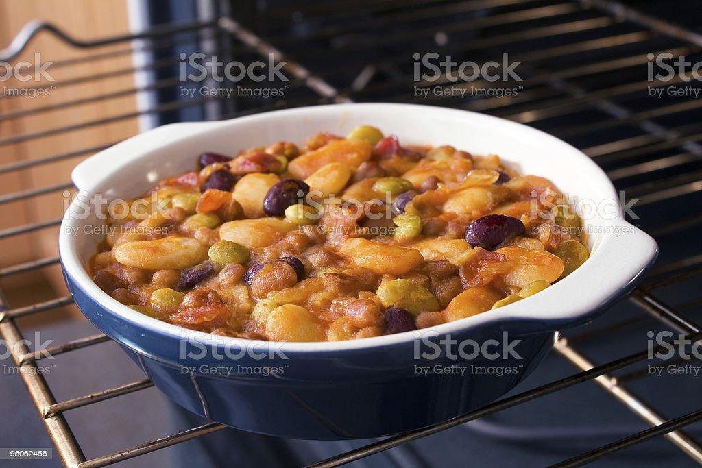 Baked Bean Casserole royalty-free stock photo
