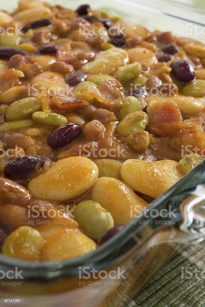 Baked Bean Dish royalty-free stock photo