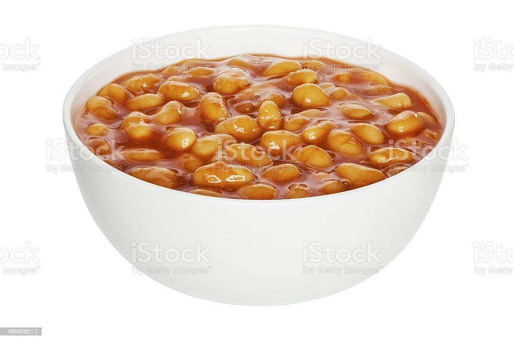Baked Beans Cutout stock photo