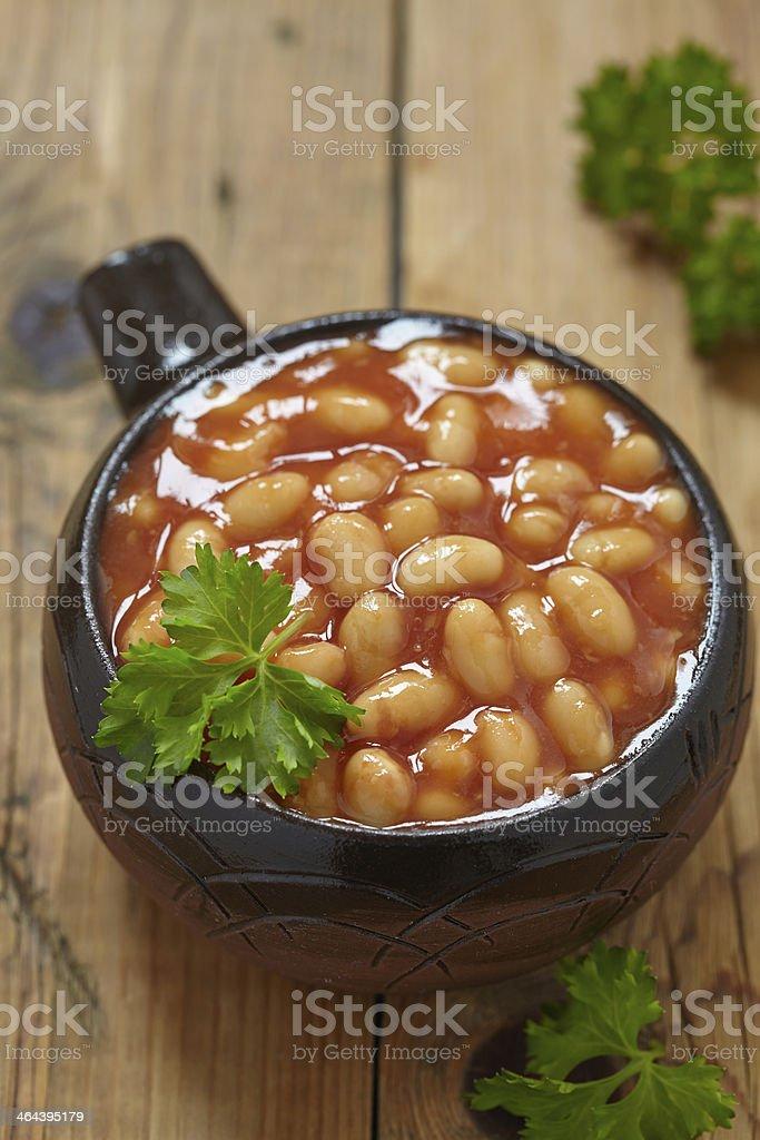 Baked beans stock photo
