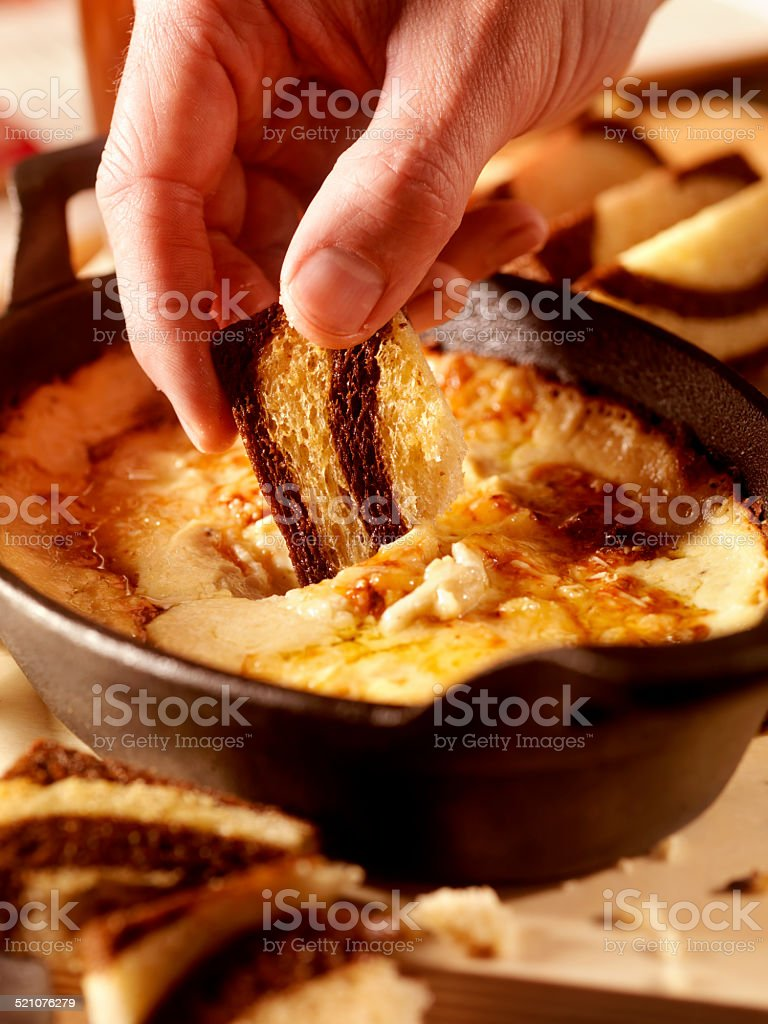 Baked Cheese Dip stock photo