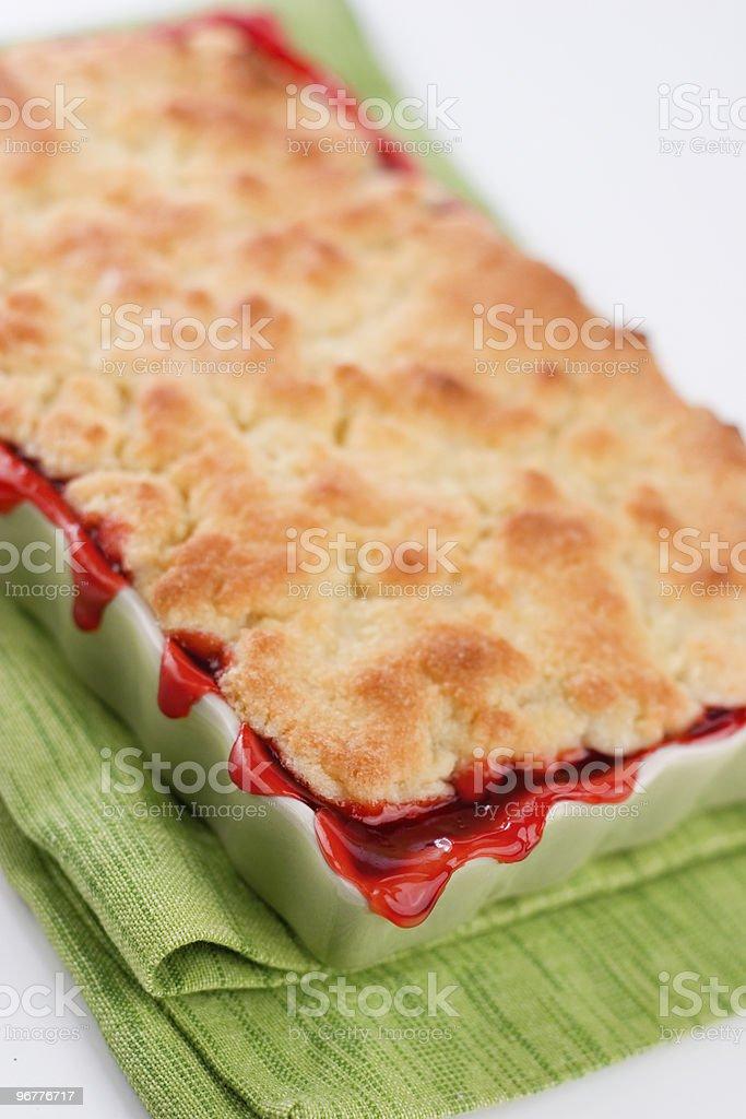 Baked Cherry Cobbler stock photo