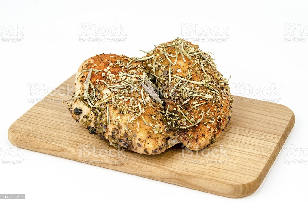 Baked chicken breast royalty-free stock photo