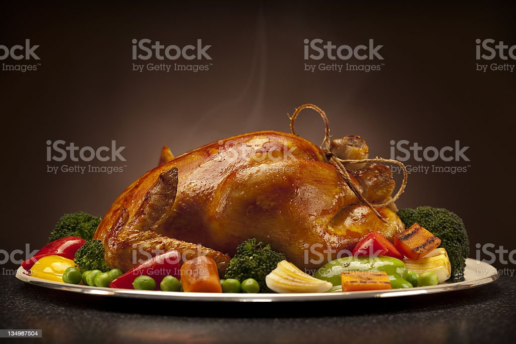 baked chicken stock photo