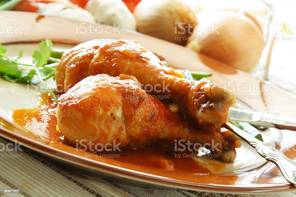 Baked chicken royalty-free stock photo