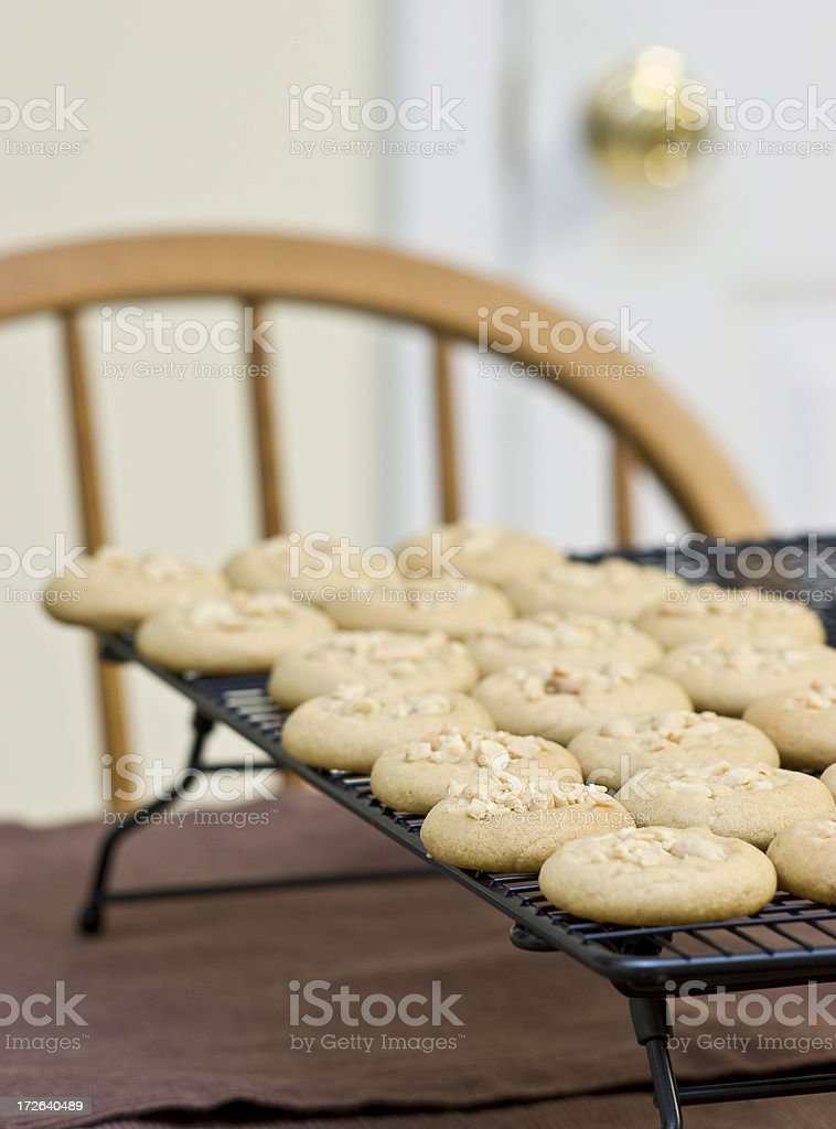 Baked Cookies on Cooling Rack stock photo