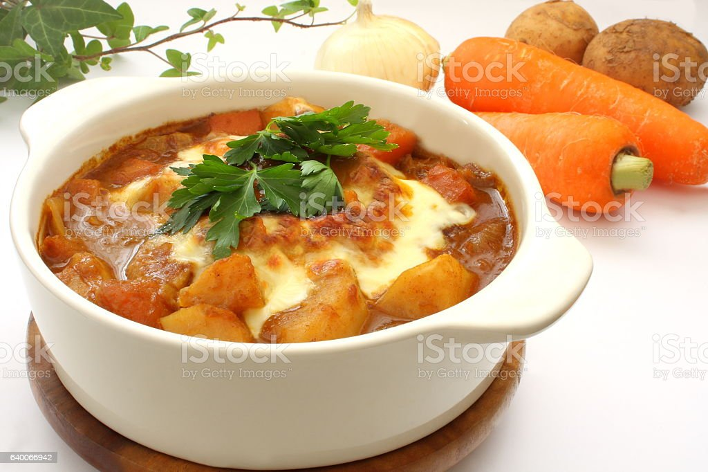 Baked Curry stock photo