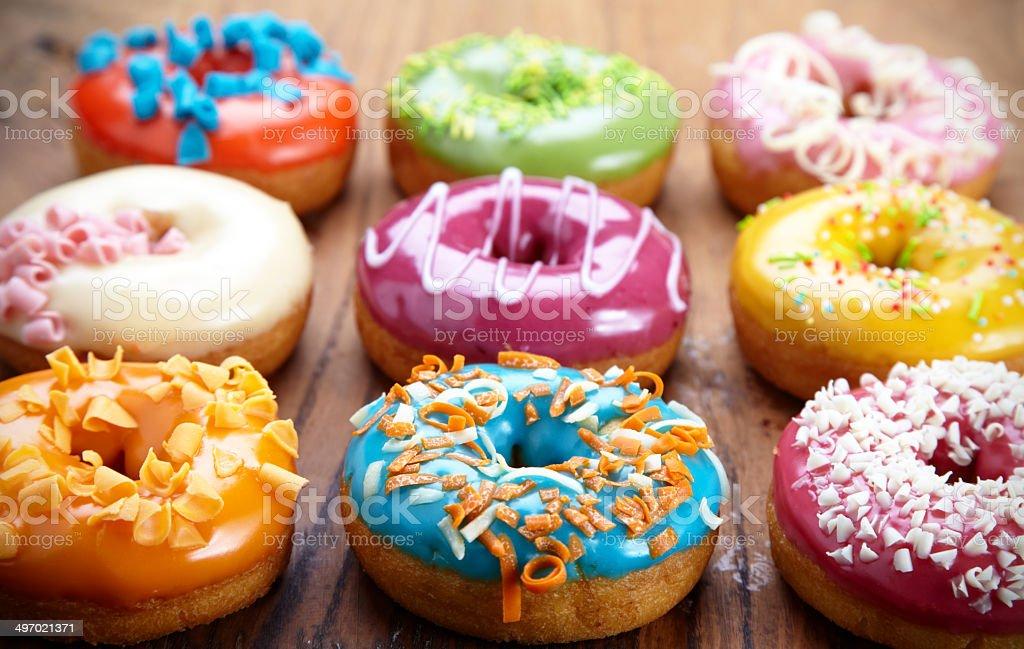 baked donuts stock photo