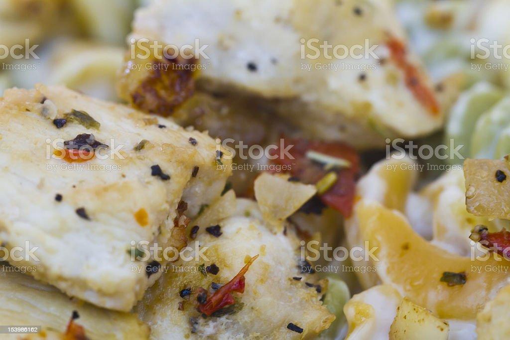 baked fish, freshly seasoned and cooked, - macro, close up royalty-free stock photo