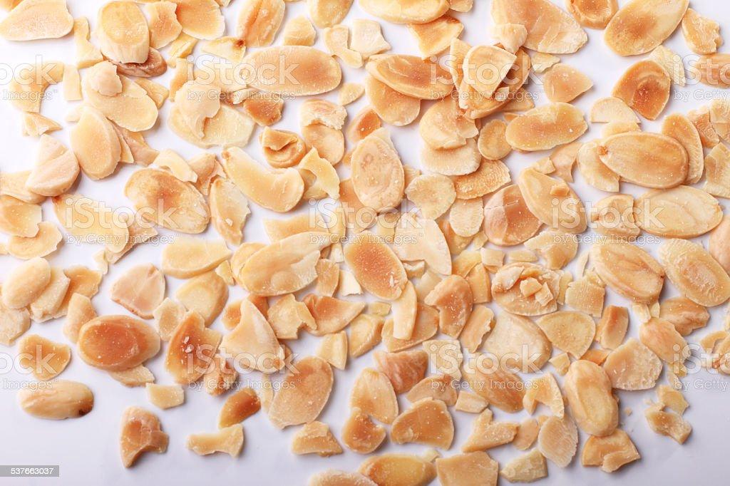 baked flake almond stock photo