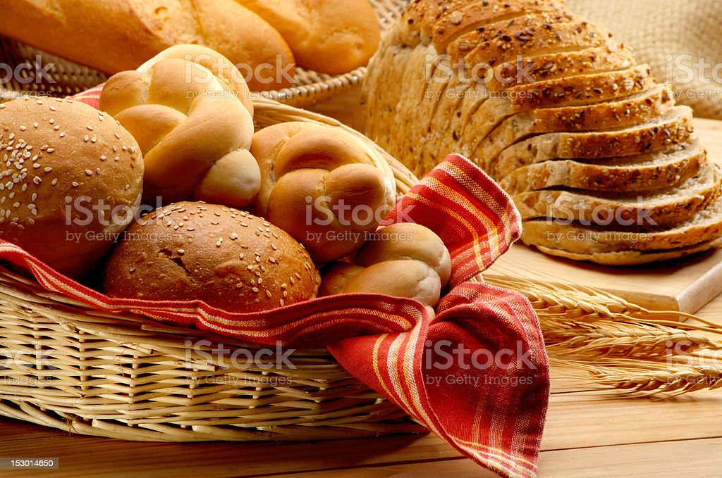 Baked foods stock photo