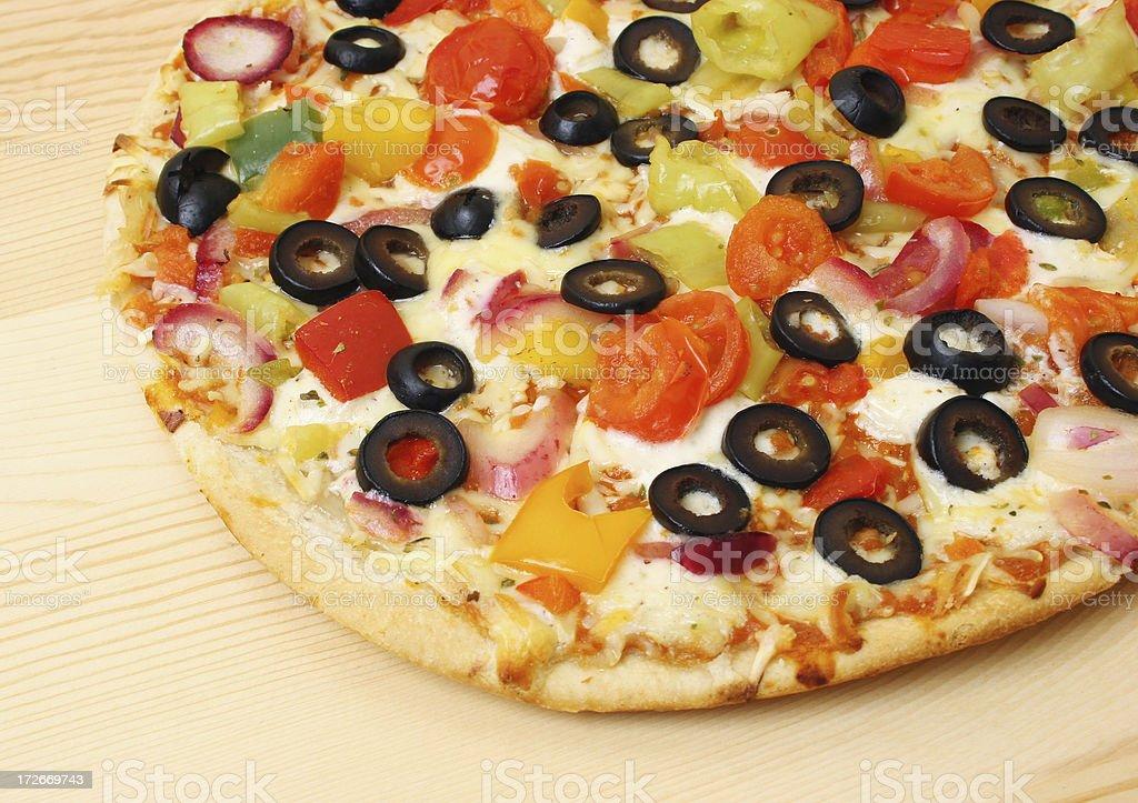 Baked Fresh Pizza royalty-free stock photo