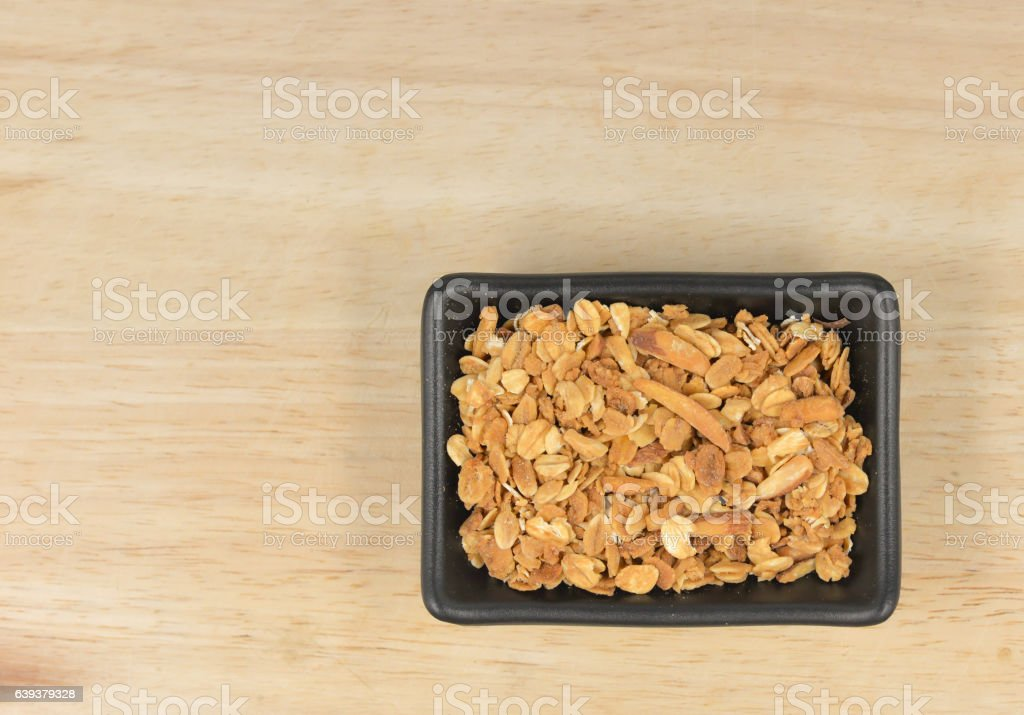 Baked Granola Muesli stock photo