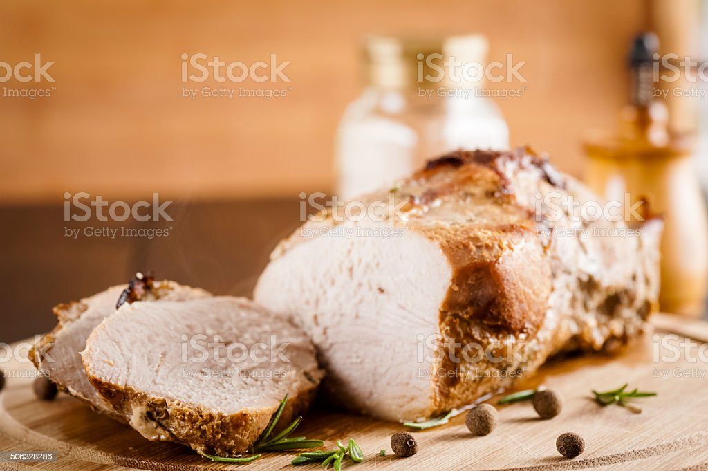 baked ham stock photo
