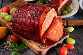 Baked Honey Glazed Ham