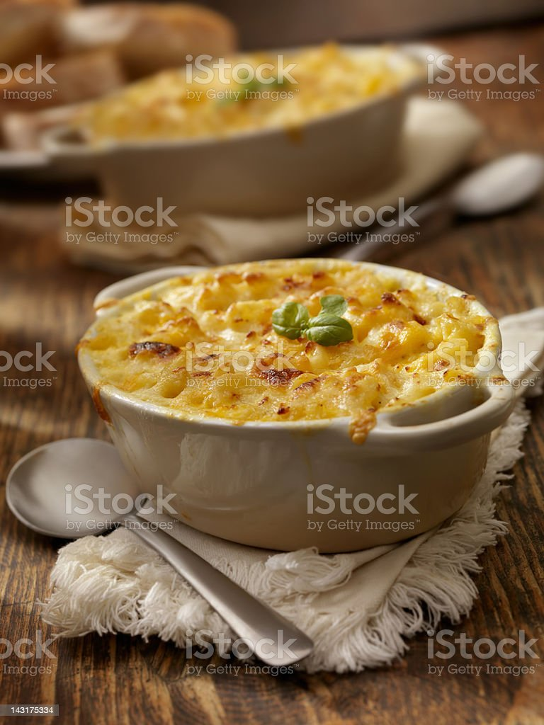 Baked Macaroni and Cheese royalty-free stock photo