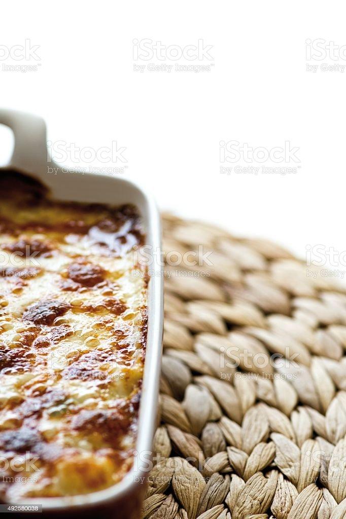 Baked  Macaroni stock photo