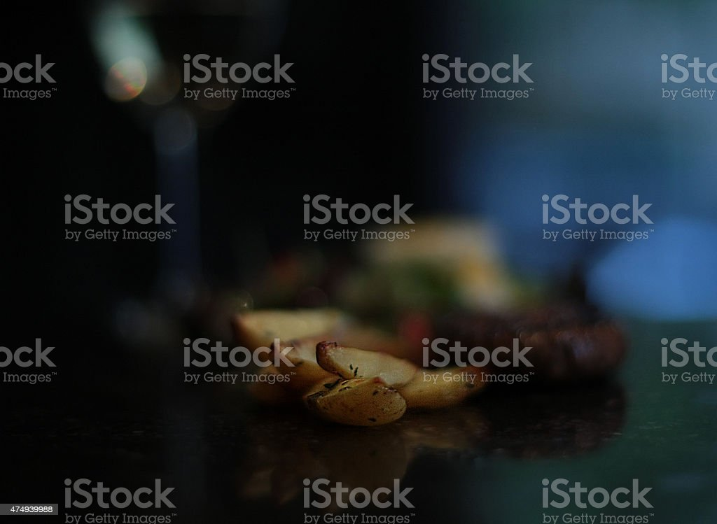 Baked patatoes stock photo