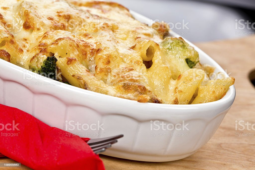 baked penne royalty-free stock photo