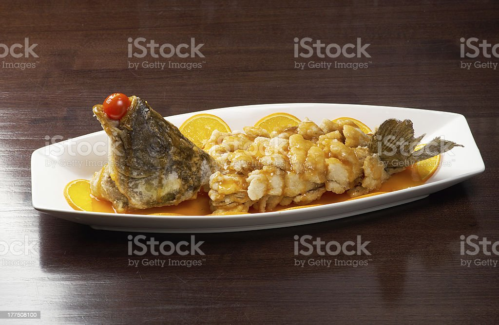 baked perch.rockfish royalty-free stock photo