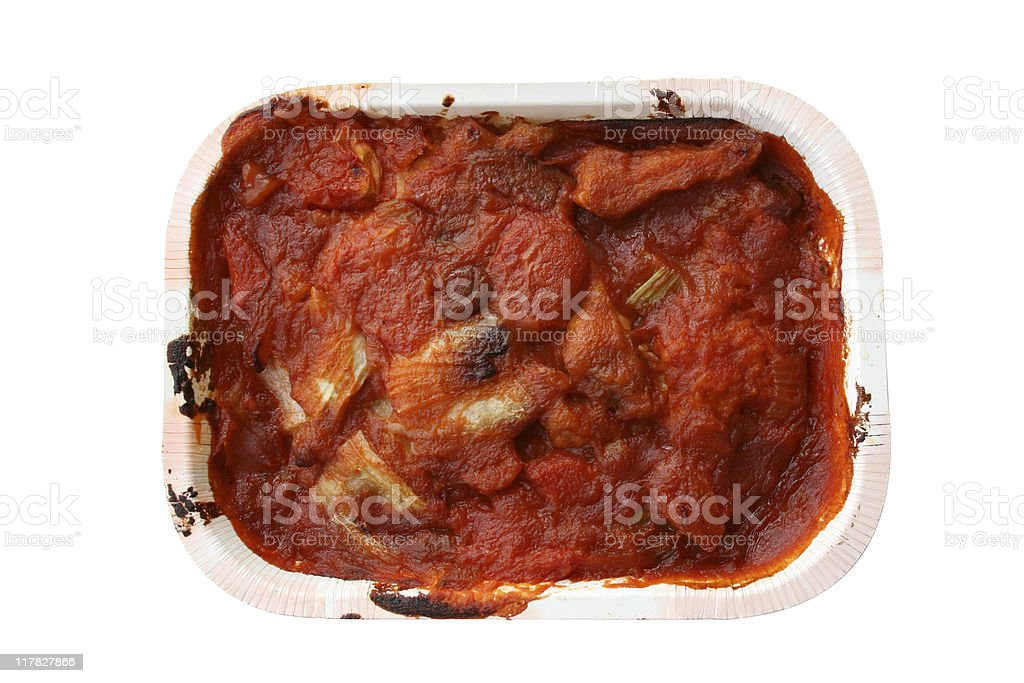 Baked Pork Chop on Rice royalty-free stock photo