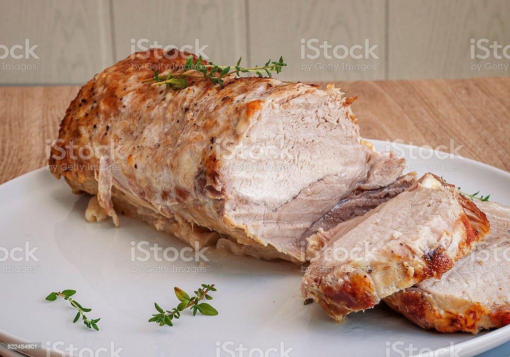 Baked Pork stock photo