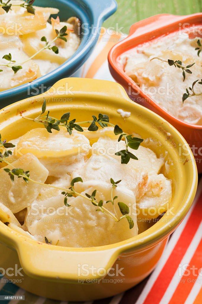 Baked potato casserole stock photo