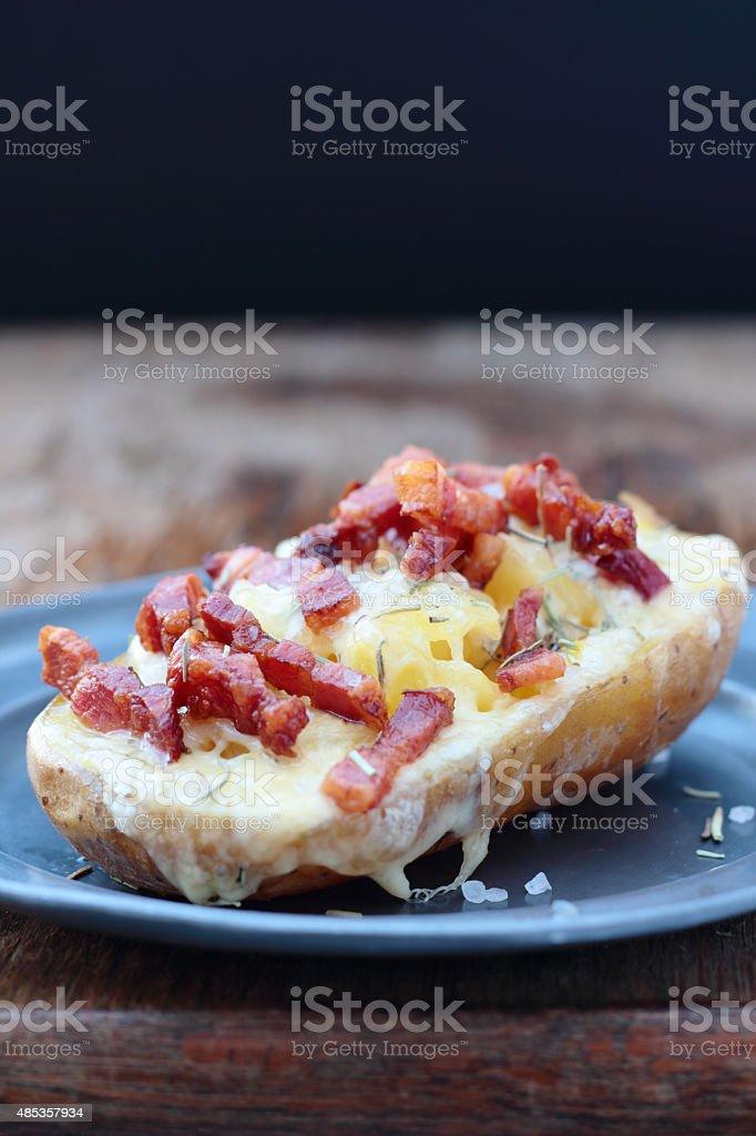 Baked potato. stock photo