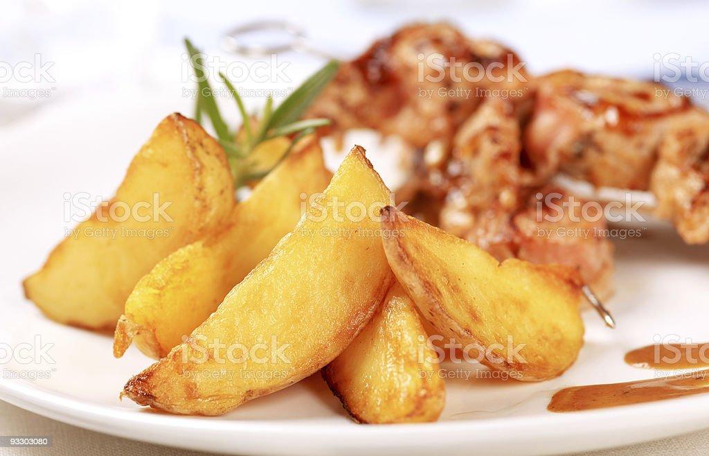 Печёный картофель на танкетке Стоковые фото Стоковая фотография