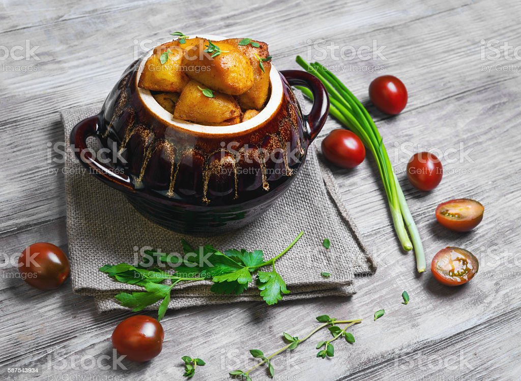 Baked potatoes, food foto stock photo