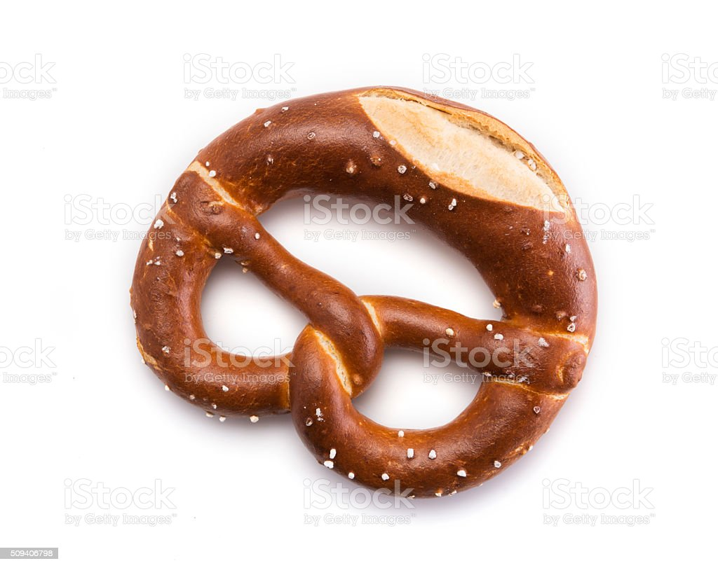 Baked Pretzel stock photo