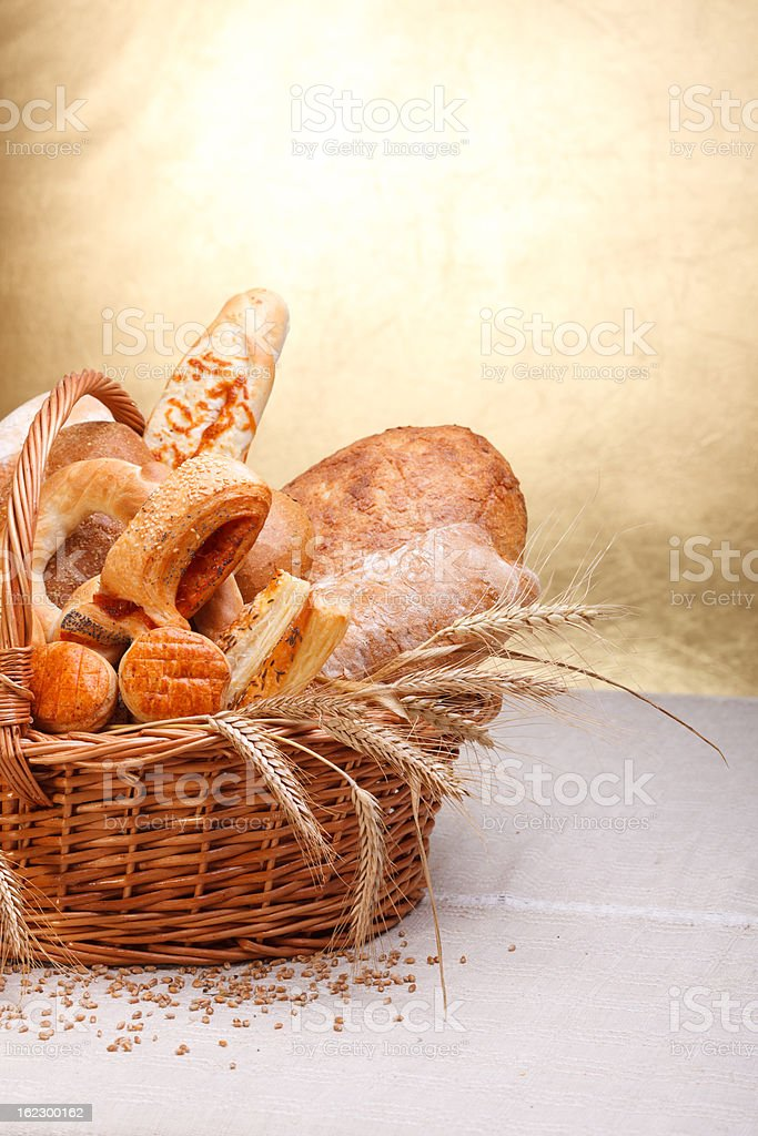 Baked products royalty-free stock photo